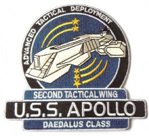 "Stargate SG-1/Atlantis USS Apollo Logo 4.5"" Uniform Patch"